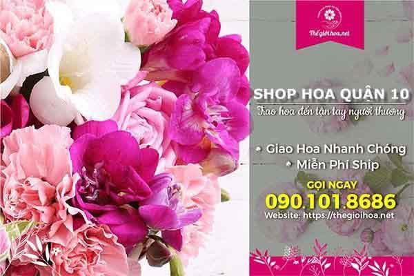 Shop hoa tươi quận 10