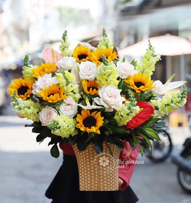 Giỏ hoa sinh nhật đẹp