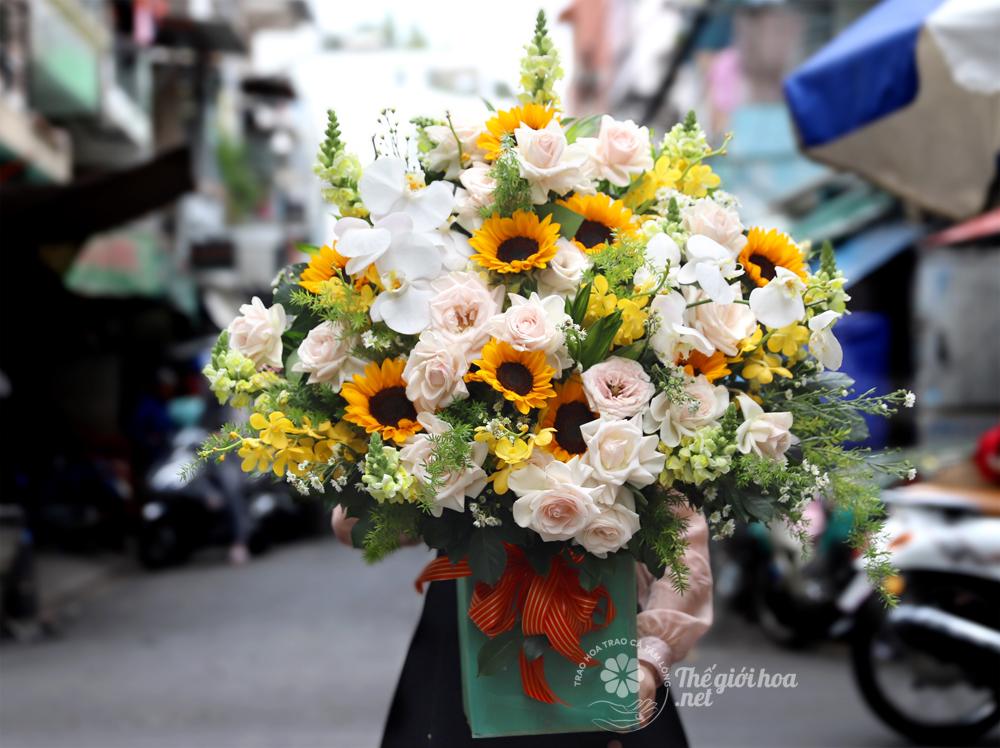 hoa sinh nhật tình yêu ngọt ngào