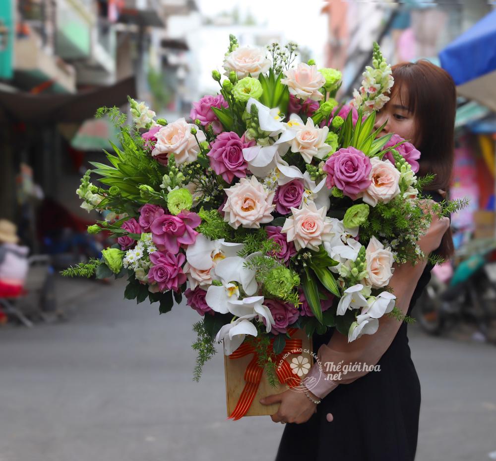 hoa sinh nhật giản đơn
