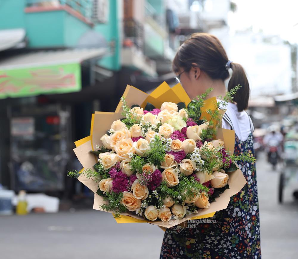 hoa sinh nhật vườn yêu
