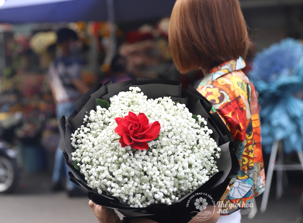 sản phẩm hoa bi hồng