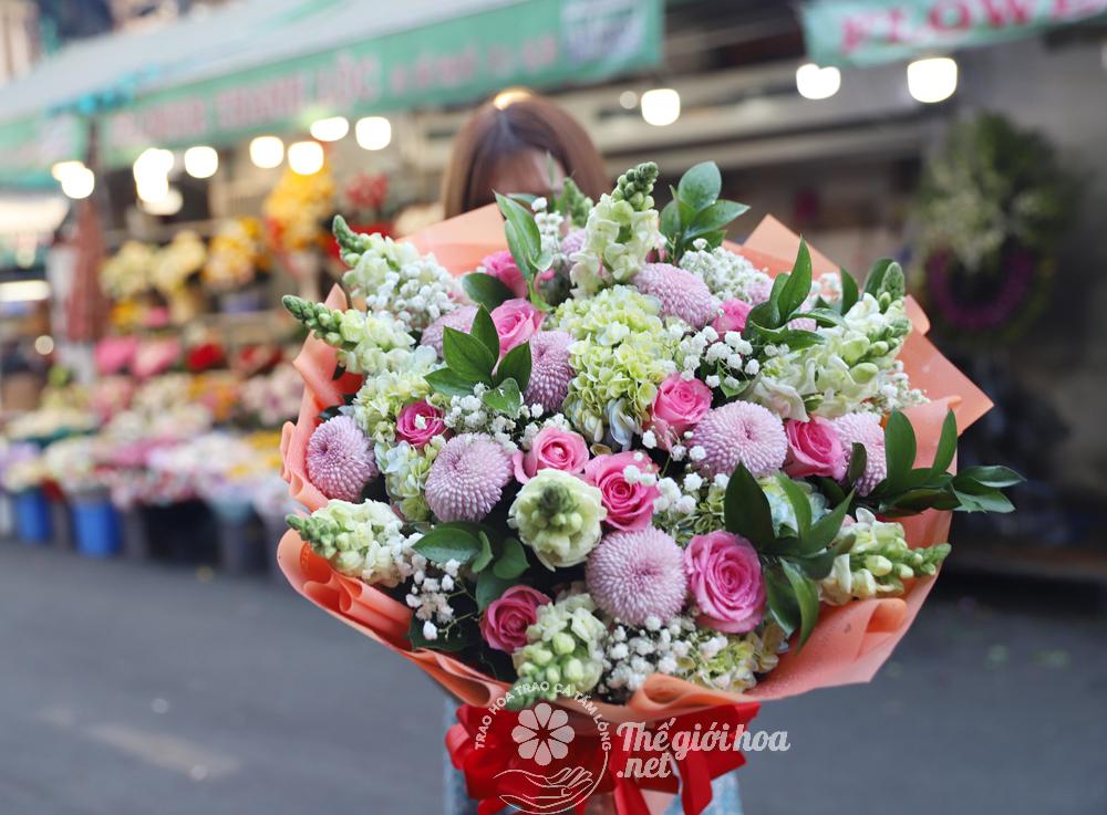 hoa sinh nhật sức sống vàng