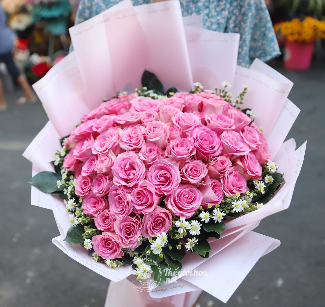 hoa sinh nhật trái tim