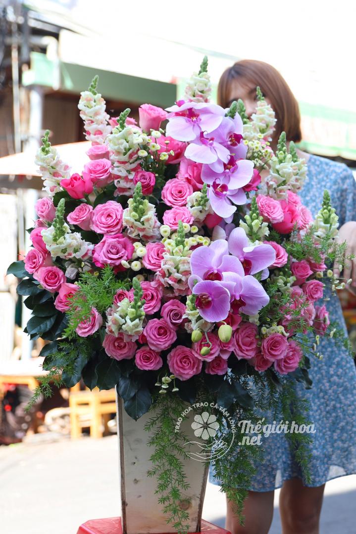 hoa sinh nhật ngày mới tươi đẹp