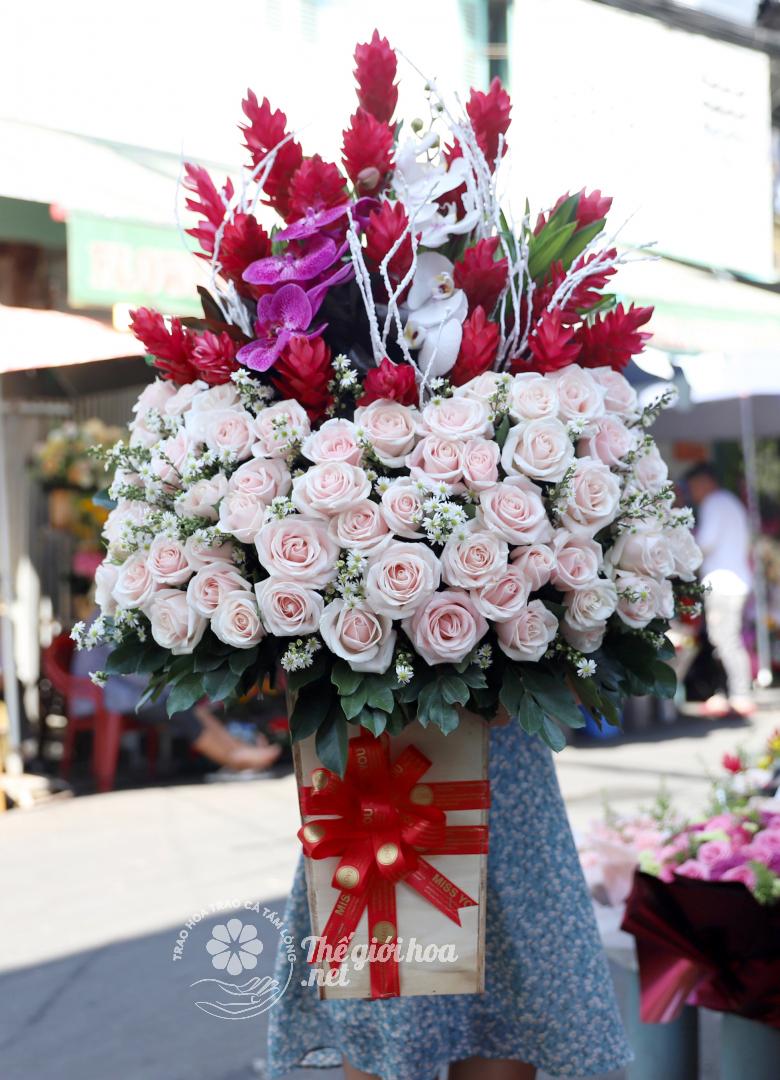 hoa sinh nhật sắc màu tình yêu