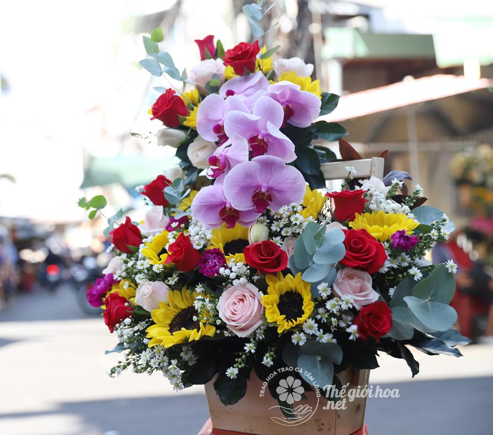 hoa sinh nhật tình ấm áp