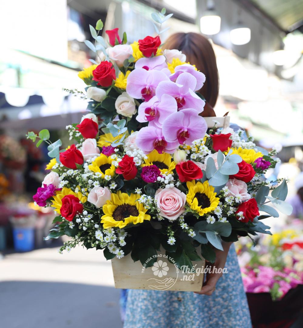 tình ấm áp hoa sinh nhật