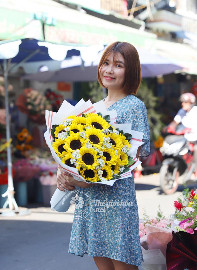 hoa sinh nhật nụ cười xinh