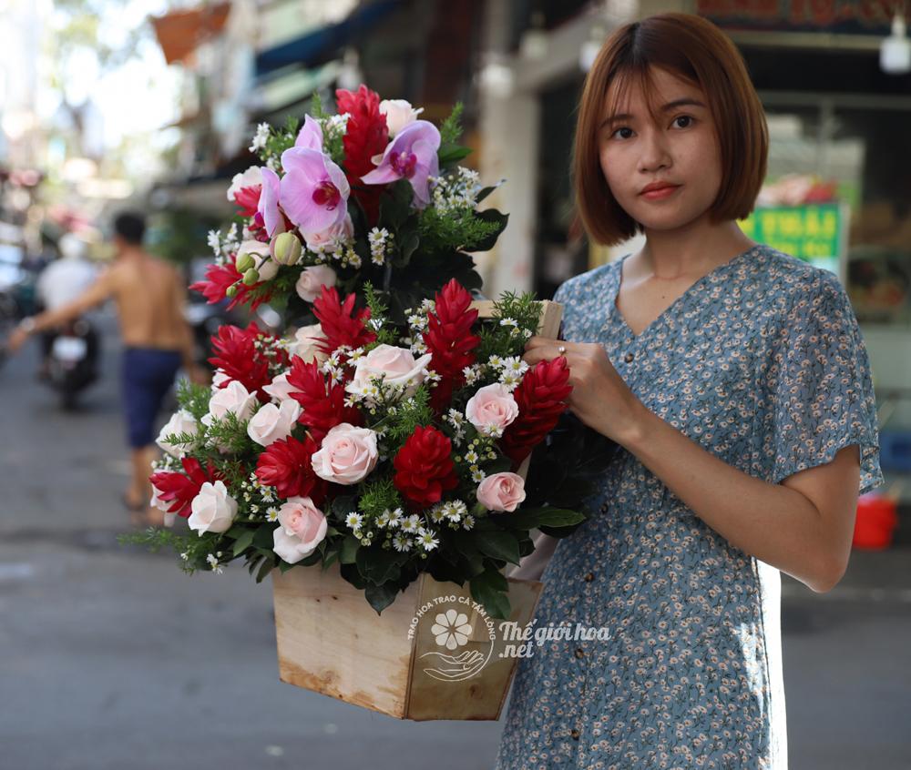 hoa sinh nhật ngàn lời yêu thương