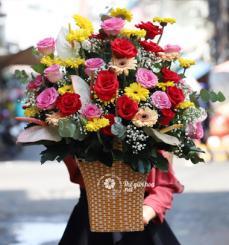 Giỏ hoa sinh nhật - Em trong mắt anh