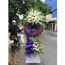 Tràng hoa tang - Thành tâm kính viếng