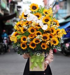 Lẵng hoa 20/10 my sunshine