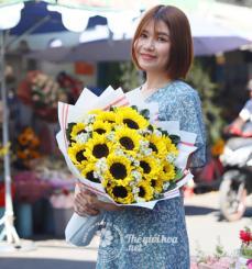 Bó hoa hướng dương nụ cười xinh