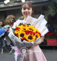 Bó hoa hướng dương Lạc quan