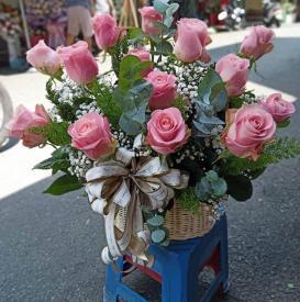 Giỏ hoa đáng yêu