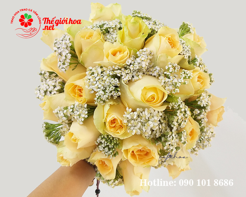 hoa hồng vàng tặng sinh nhật